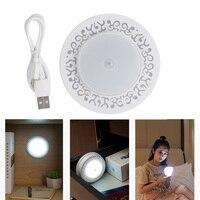 USB Rechargeable Battery 8 LED Night Light Magnetic Infrared PIR Motion Sensor Wireless Mini LED Light