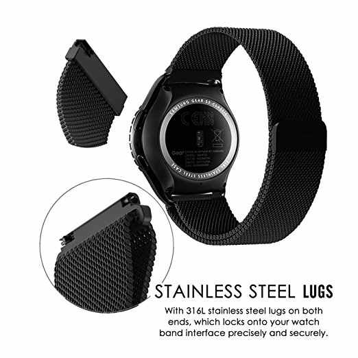 Milanese Strap band for Samsung Galaxy active 42/46mm Gear s3 20mm for S2 Classic watch Gear S3 22mm watchband 16 18 24mm