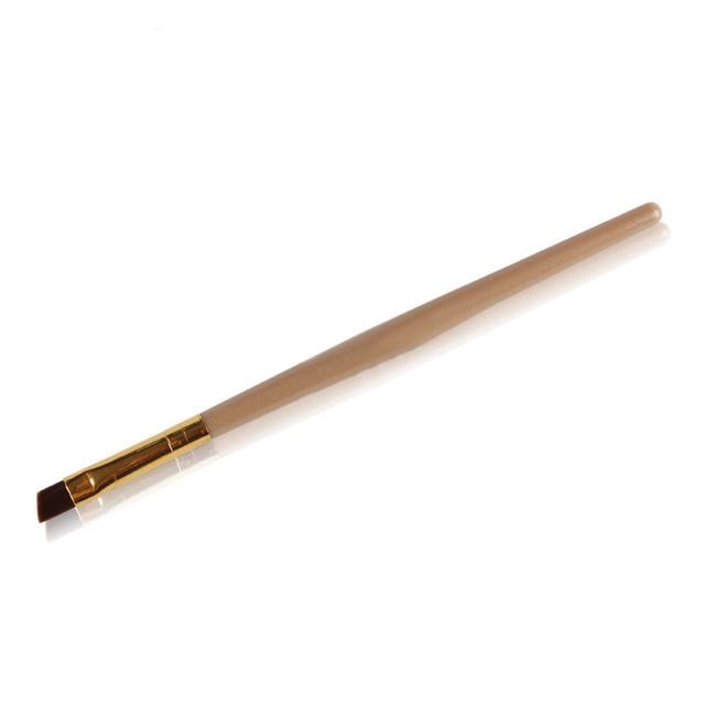 1Pcs professional eyebrow brush Nylon hair bevel Eyebrow Brush eye angled Makeup Brush single liquid eyeliner Cosmetics Tools 2