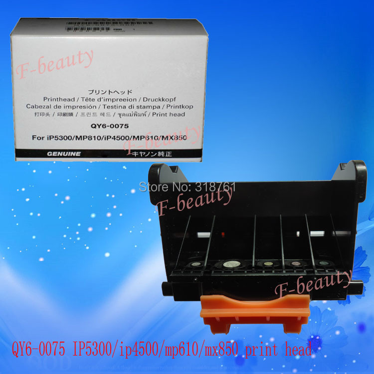 High quality Original Print Head QY6-0075 Printhead Compatible For Canon iP4500 iP5300 MP610 MP810 MX850 Printer Head print head qy6 0062 original refurbished for canon mp960 mp950 ip7500 ip7600 printer only guarantee the print quality of black