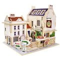 Bar Folk United Kindom House Preschool Toy 3D Wood Puzzle DIY House Wooden Jigsaw for Kids Adults