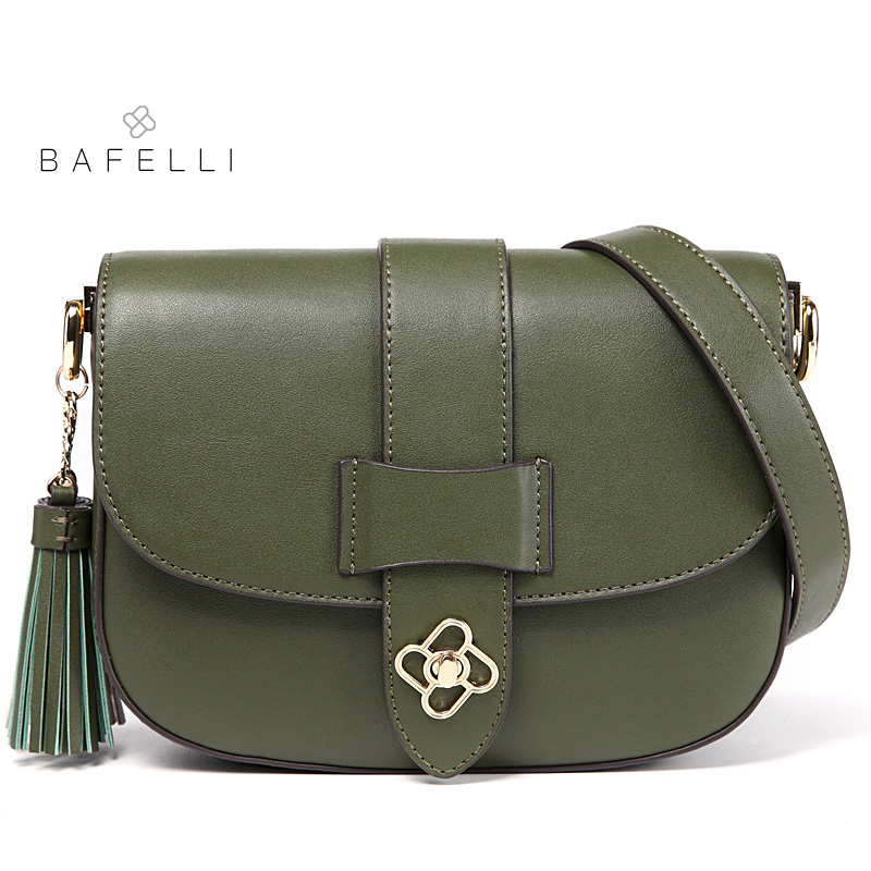 BAFELLI split leather women bag vintage tassel shoulder bag red saddle crossbody bag brown bolsa feminina women messenger bags free shipping 10pcs lnk304gn sop 7