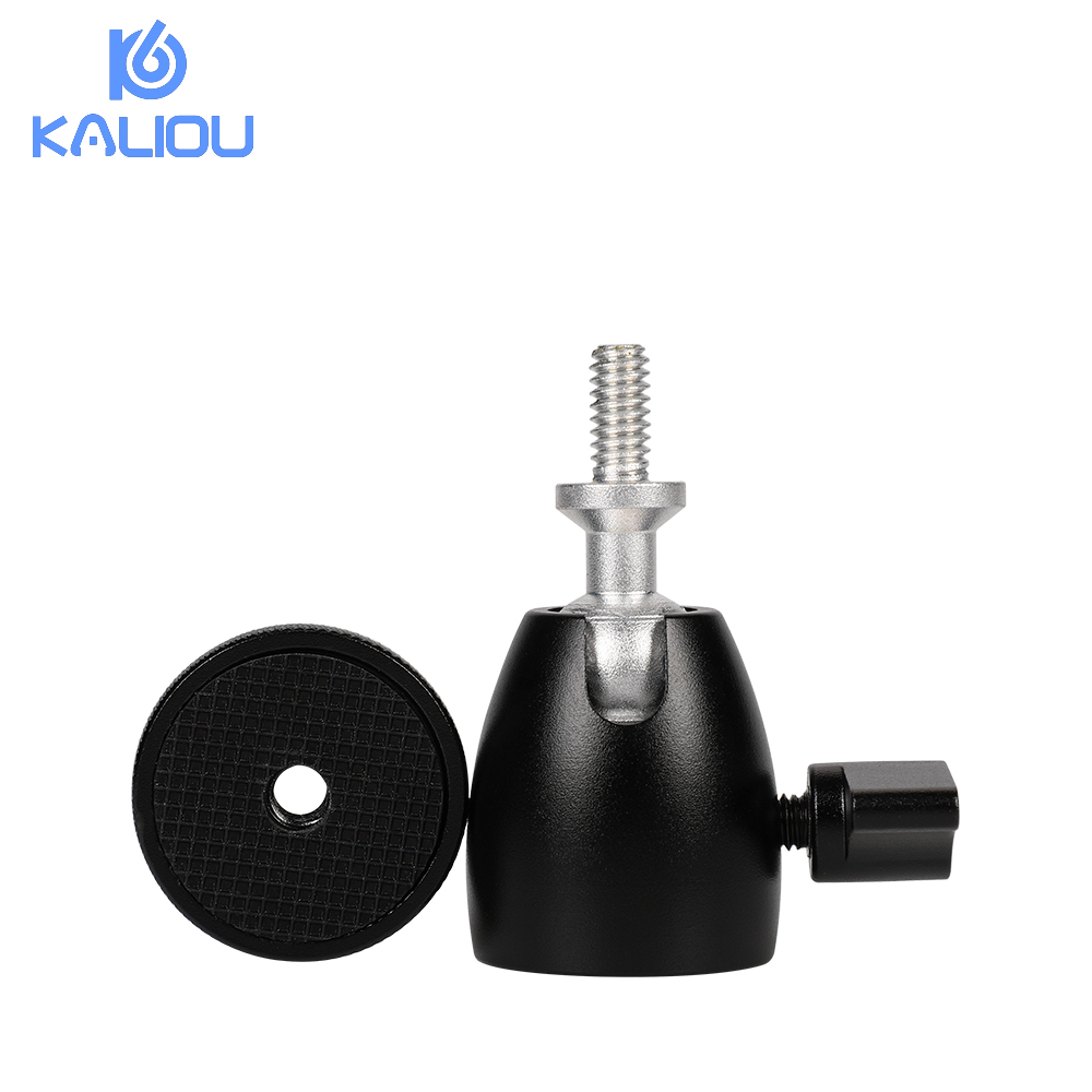 Kaliou Q39 360 Degree Rotation Mini Ball Head Tripod Head Ballhead DSLR DV Camera Mini Tripod Ballhead 1 4 quot Screw Mount Stand in Tripod Heads from Consumer Electronics