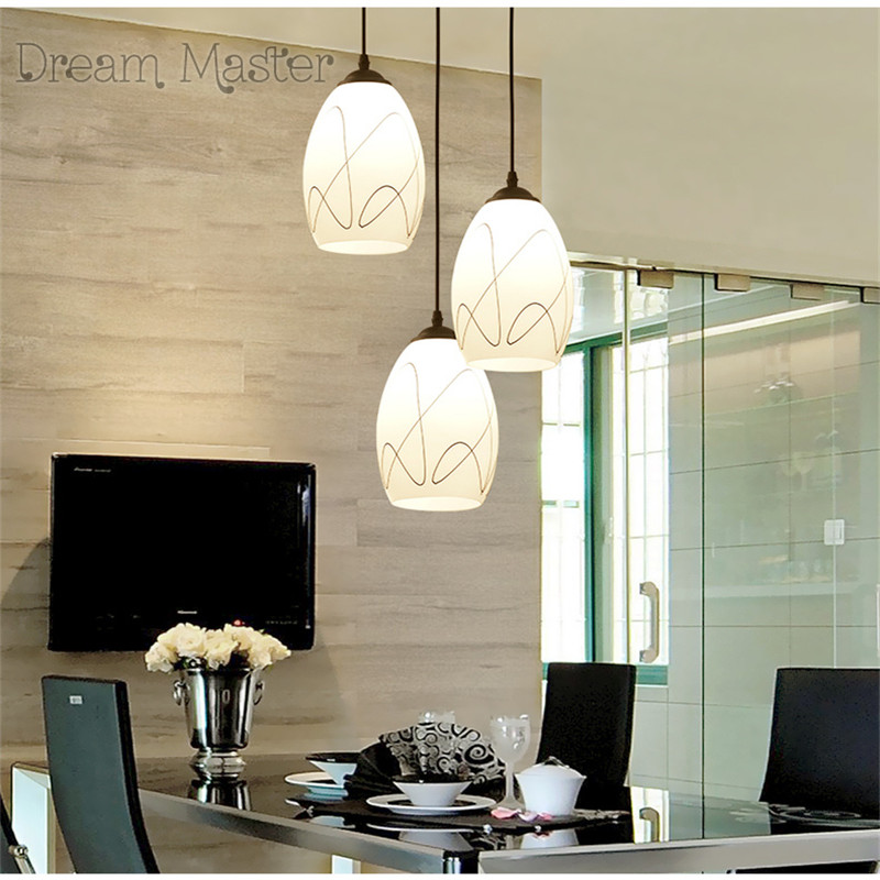 Buy restaurant chandelier modern minimalist three creative dining table lamp - Lampen wohnzimmer modern ...