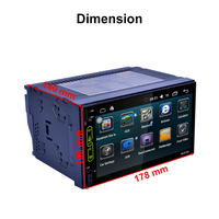 Auto 7 Inch Car Radio QUAD Core Android 2 Din Bluetooth Car Radio Digital Touch Screen