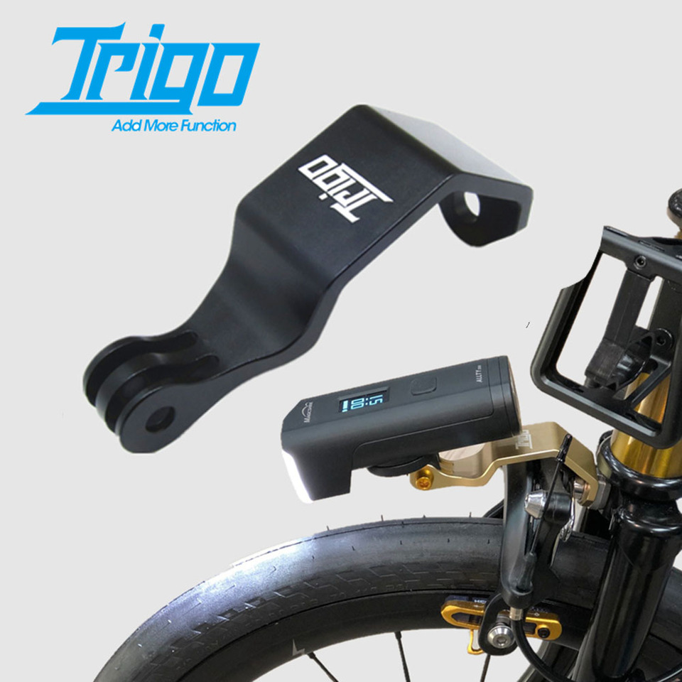 Bike Headlight Mount For Brompton Cateye Gopro Action Camera Holder BLACK