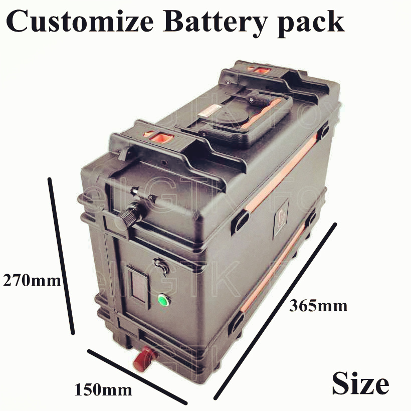 Waterproof 60v 20AH lithium Battery Pack 1500W 60v 25ah Electric bike Scooter 1800w pp suitcase ebike scooter motor + 5A charger (5)