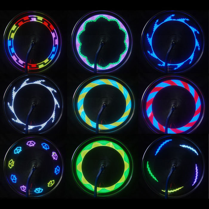 14 Led Motorcycle Cycling Bicycle Bike Wheel Signal Tire Spoke Light 30 Changes 3 Modes Bicycle Spoke Light Free Shipping #30 Online Shop Accessories
