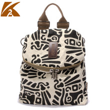 KVKY 2019 High Quality Cotton Linen Backpack for Teenage Girls School Bags Women Casual Backpacks Female Print Rucksack Mochila new corduroy backpack high quality school bags for teenger girls casual travel backpacks solid color rucksack mochila xa1867c