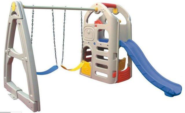 kids indoor plastic slide with swings / indoor playground equipment ...