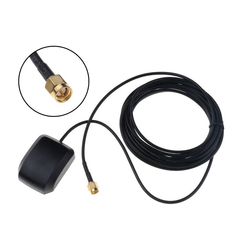 Receptor gps sma adaptador automotivo, cabo de 3m, antena gps, navegação por dvd, câmera de visão noturna