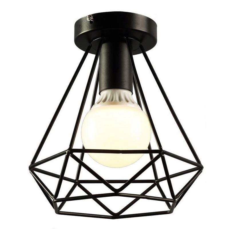 Vintage Industrial Rustic Flush Mount Ceiling Light Metal Lamp Fixture American-style village Style Creative Retro Light Lamps