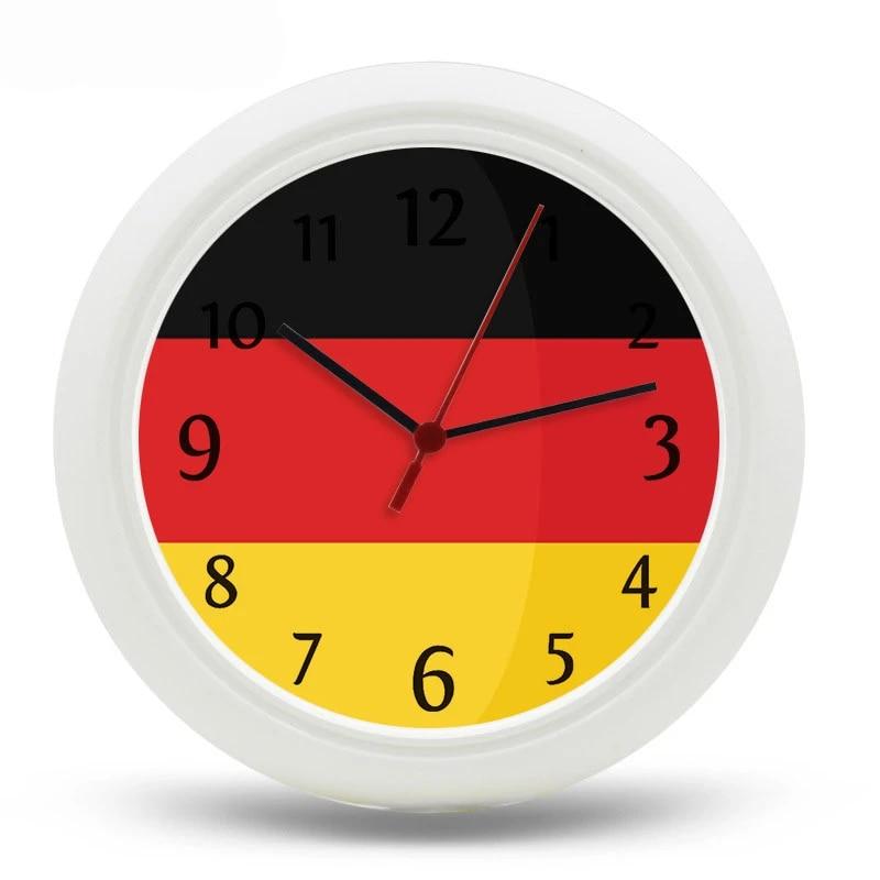 Livraison Gratuite Horloge Murale Allemande Decor A La Maison 25 Cm Quartz Numerique Uhr Plastique Reloj De Pared Wanduhr 10 Pouces Horloges De Ville Pas Cher Aliexpress