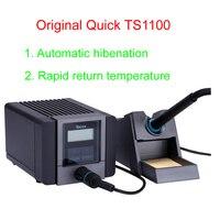 Оригинальный быстрый TS1100 паяльная станция 90 Вт постоянная температура Антистатическая Регулируемая паяльная станция
