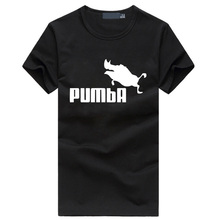 2016 New funny cute Pumba tshirt homme cotton mma men's t-shirts novelty summer streetwear hip hop tops fitness brand clothing