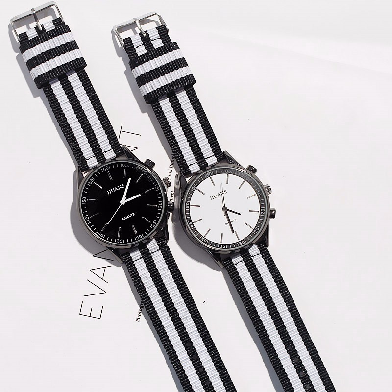 все цены на Fashion Men Women Unisex Nylon Fabric Watch Sport Thin Students Canvas Quartz Dress Wrist Watches For Men Women онлайн