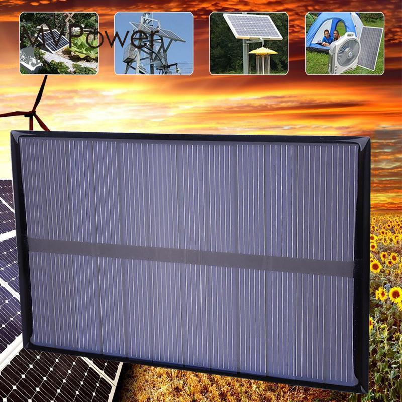 Portable Mini 12w Dc6v 112x84mm Polysilicon Solar Panel Diy Power