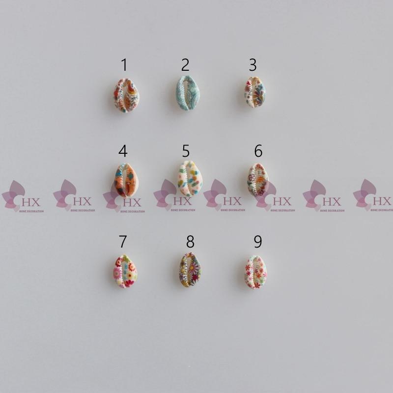 50PCS Bohemia Bulk Cut Sea Drilled Natural Cowry Cowrie Shell Conch Beach Beads