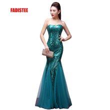 FADISTEE, Новое поступление, классическое вечернее платье, Vestido de Festa, роскошное атласное платье, сексуальное, без бретелек, с блестками, в стиле русалки