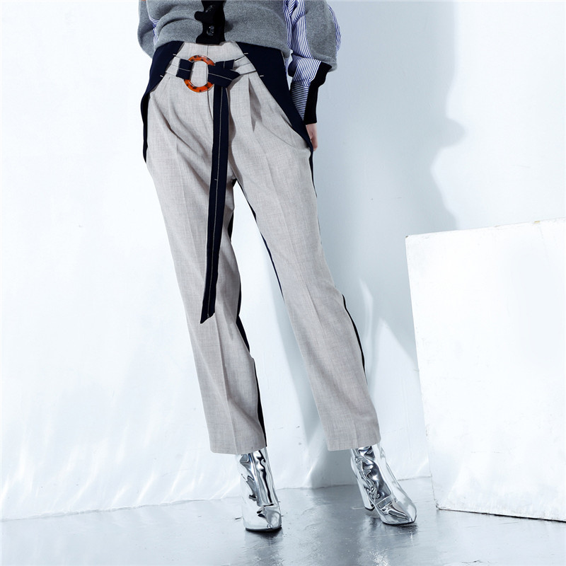Oceanlove New length Pants Sashes Casual Fashion Zipper Ankle Spring 10898 Fly Khaki Women Pant Panelled 2019 Trousers wSPxHwUrq