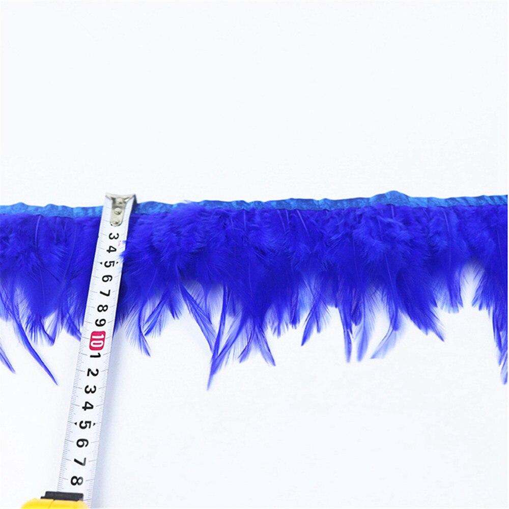 Topdan 10 Metr 10-15CM Toyuq Cock Lələkləri Bezi Side Band Toyuq - İncəsənət, sənətkarlıq və tikiş - Fotoqrafiya 2