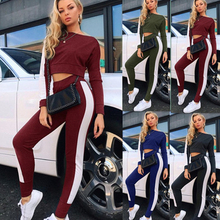 Athletic Women Sport Suit Autumn Winter Tracksuit Long Sleeve Pants Gym Clothes Fitness Mujer Jogging Outfit Active Saport Set
