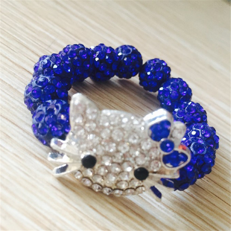 1 SZTUK Hello Kitty Bransoletki dla dzieci Handmade Rope Chain Wrap - Modna biżuteria - Zdjęcie 2
