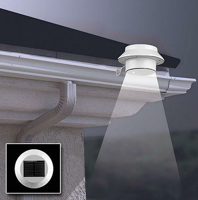 Wonderful Solar Light Garden Outdoor Solar Powered 3 LED High Brightness Light Fence  Gutter Garden Yard Roof