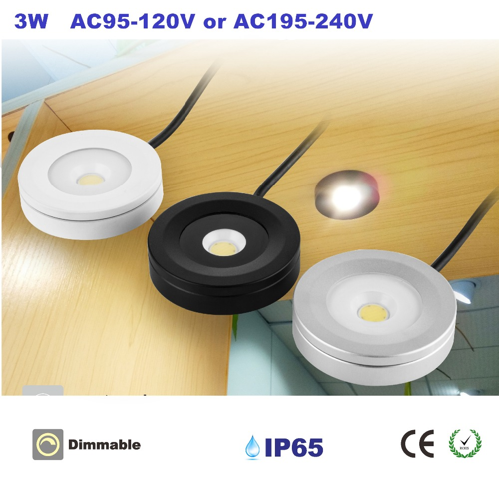 3W Led IP65 Cabinet Ceiling Light AC110V Or AC220V COB