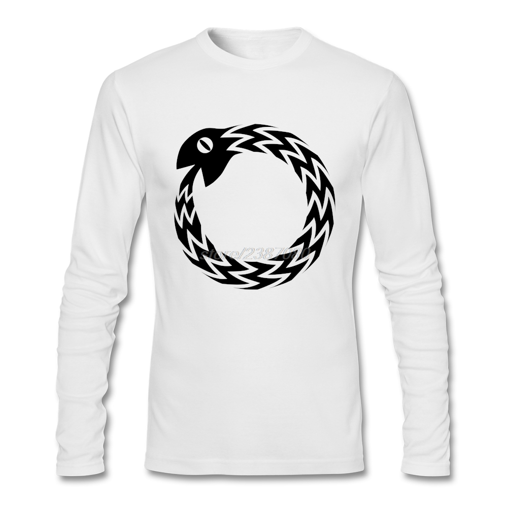 Black t shirt low price - Ouroboros Clothing Man Full Sleeve Funny T Shirt Designs Lowest Price Natural Cotton For Man Clothes