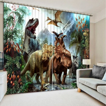 Luxury Blackout 3D Window Curtains For Living Room Bedroom animal curtains cartoon curtains