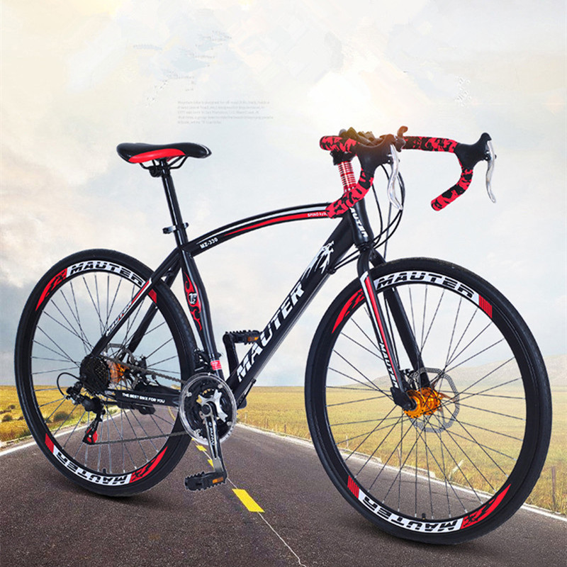 Road Bicycle Variable Speed Bisc Brake  Men And Women Students Bicycle Bend Handle Racing Bike 27-inch 30 Speed Racing Bkie