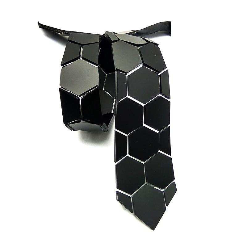 Chic noir mat hexagone cravates élégant hommes cravates 5 couleurs luxe Hexties 5cm boîte-cadeau robe formelle accessoire Design Unique - 5