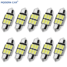 MODERN CAR 10x 31MM C5W C10W C3W Car Festoon Light White 5630 6SMD Interior Lighting LED Dome Map Lamp Bulbs Reading Door Lamps