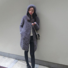2020 New Arrivals Vintage Hoodedผู้หญิงธรรมชาติMinkผ้าขนสัตว์ชนิดหนึ่งCardigans Real Mink Cashmereเสื้อกันหนาวWsr336