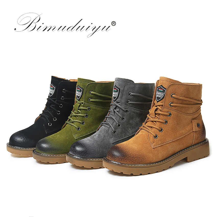 BIMUDUIYU; Брендовые ботильоны из натуральной замши; сезон осень-зима; высококачественные модные женские ботинки; новые зимние ботинки