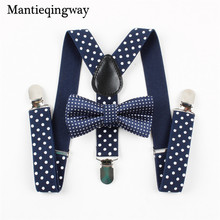 Mantieqingway Boys Gilrs Suspender Bowties Set For Children Wedding Bowties Suspenders font b Baby b font
