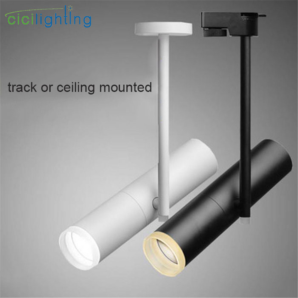 Modern LED Track Light COB LED ceiling or rail mounted Spotlights Black white Clothing Shop Nordic rail lighting 5W 7W 10W 12W lola toys emotions cutie small голубая анальная пробка с розовым кристаллом