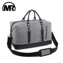 MARKROYAL 2019 New Arrival Business Travel Duffle Bag for Men Women Carry On Luggage Tote Bags Weekender Overnight Black&Gray(China)