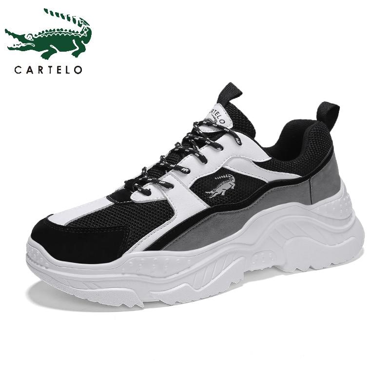 CARTELO hommes chaussures décontractées chaussures de sport mode léger plate-forme chaussures pour hommes sauvage