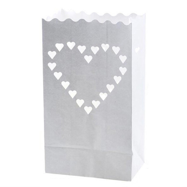 Aliexpresscom Buy 100pcslot Love Heart Paper Luminary Bag