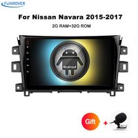 4Core 9 full touch Screen Android 8.0 Car Stereo For Navara NP300 2014+ AutoRadio RDS GPS Navigation 2G RAM RTDA7851 No DVD