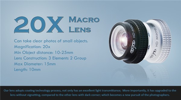20X Macro lens for iPhone Camera Lens Professional Super Macro 20X for iPhone 5 6 6s plus Lense with Plate lens APE-20X 3