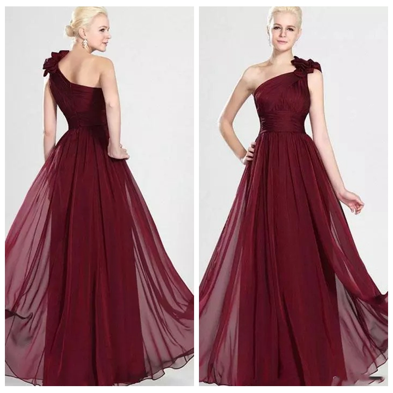 Dark Red Bridesmaid Dress Promotion-Shop for Promotional Dark Red ...