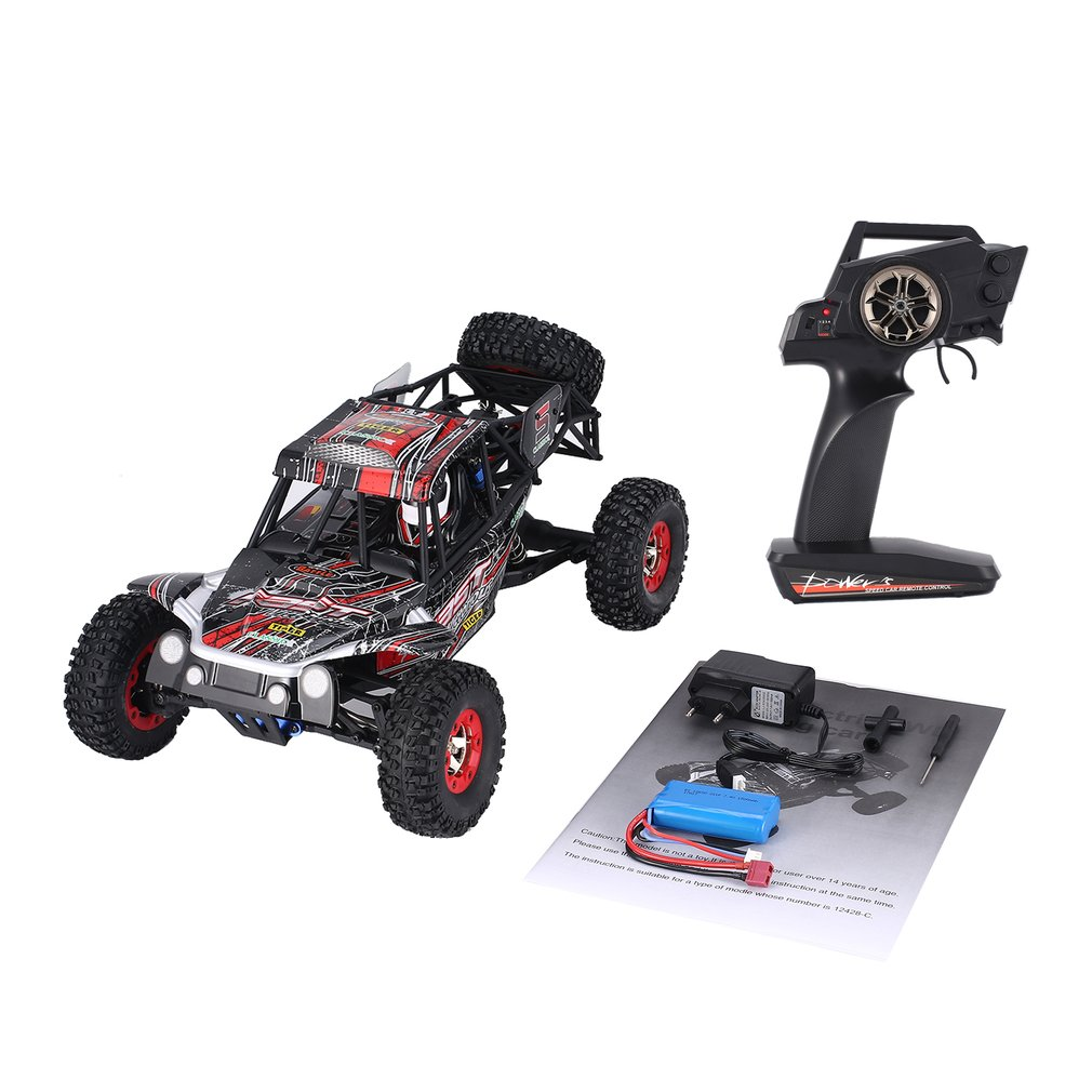 Wltoys 12428-C 1/12 Scale 2.4Ghz 4WD 50km/h High Speed RC Crawler Climbing Off-Road Rock Electric RC Remote Control Car RTR hongnor ofna x3e rtr 1 8 scale rc dune buggy cars electric off road w tenshock motor free shipping