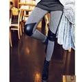 Мода эластичные брюки карандаш узкие брюки шить кожаные леггинсы женские леггинсы