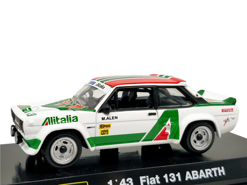 Bburago <font><b>1</b></font>:<font><b>43</b></font> <font><b>Fiat</b></font> 131 Abarth ALITALIA M.Alen Rally Racing Diecast <font><b>Model</b></font> <font><b>Car</b></font> image