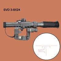 Dragunov SVD POS 3 9X24 красный с подсветкой охотничий оптический прицел стекло Сетка Тактическая оптика прицелы стрельба АК винтовка