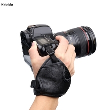 New Black PU Leather SLR/DSLR Camera Leather Soft Wrist Hand Strap Grip Belt for Canon for Nikon for Sony