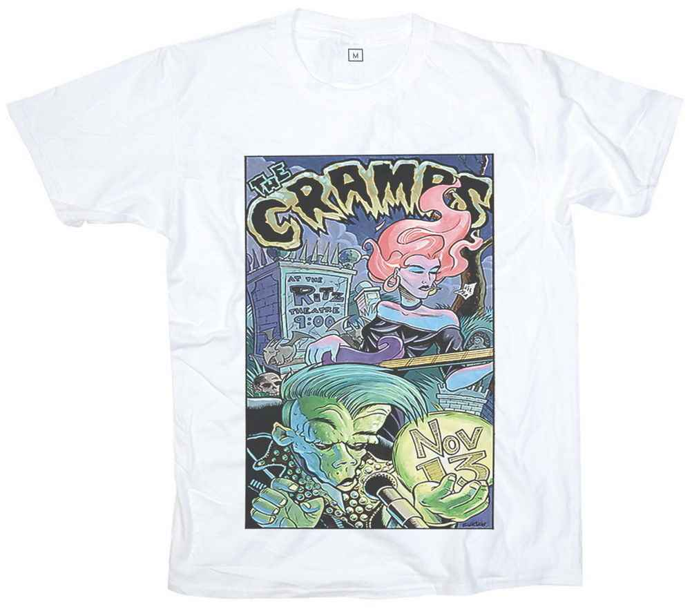 The Cramps T Shirt Men Summer Garage Punk T shirts Men Short